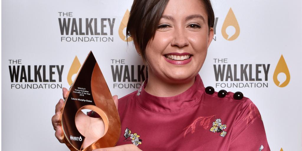 Laura Murphy Oates, winner of the 2018 Walkley Young Australian Journalist of the year